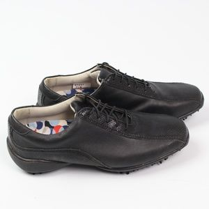 FootJoy LoPro black leather oxford golf shoe cleat